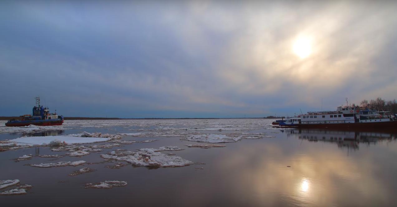 Максимальные уровни воды при ледоходе в Архангельске ожидаются до1 мая