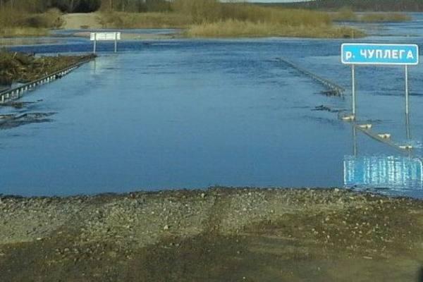 В Архангельской области на Мезень и Онегу дороги нет: затоплены участки и мосты