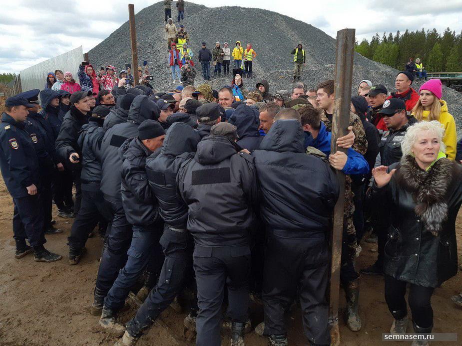 Девять активистов задержаны на станции Шиес после столкновений с ОМОНом