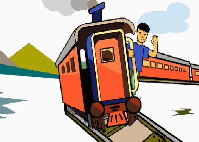 Анимационные картинки с поездами