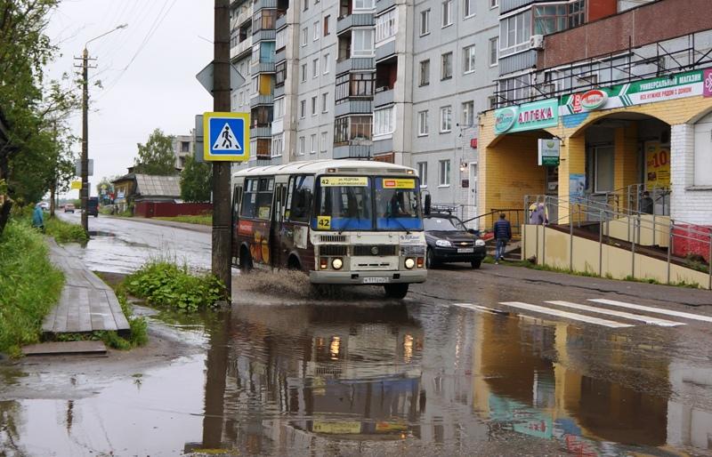 Архангельск затоплен. Автобусы боятся швартоваться