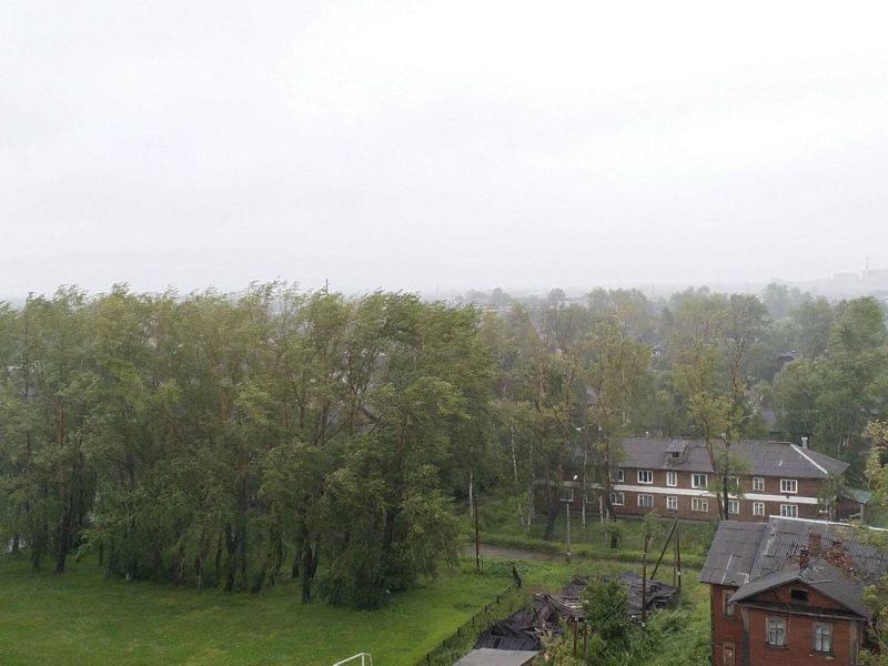 В Архангельске шторм. Держитесь подальше от рекламных щитов и деревьев