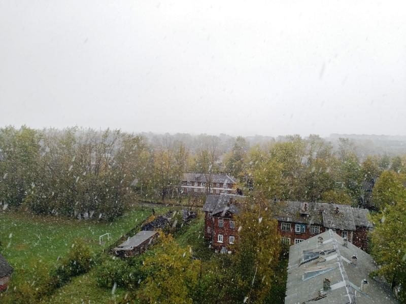 В Архангельске пошёл первый снег