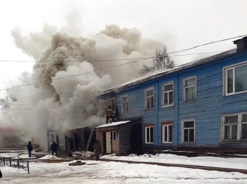 Стиральная машина сожгла полдома в Холмогорском районе