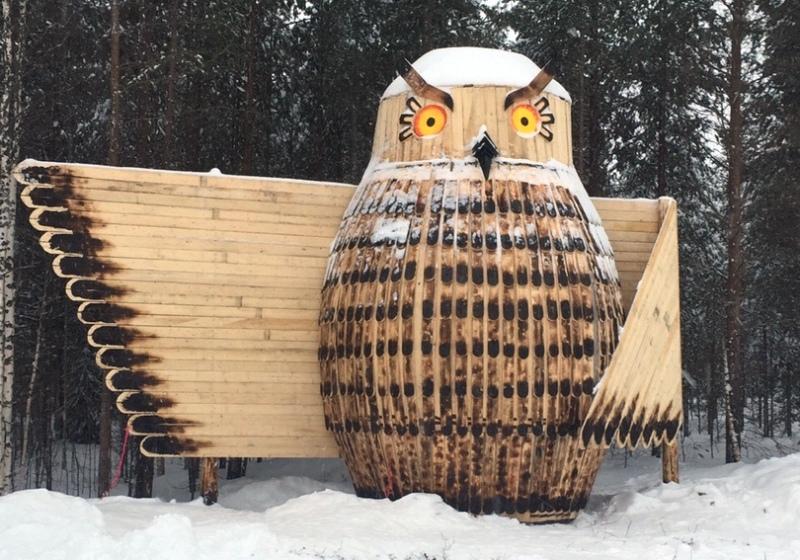 В селе Дорогорское появился новый арт-объект — гигантская Сова