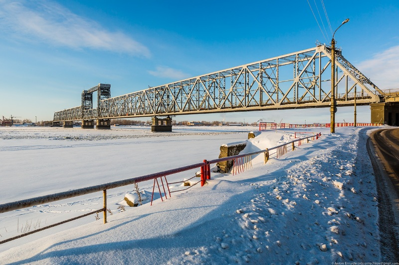 Сегодня в Архангельске на сутки перекроют Северодвинский мост