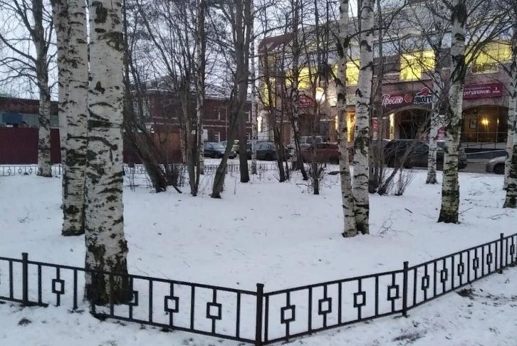 Жители Архангельска требуют сохранить сквер на Поморской-Троицком