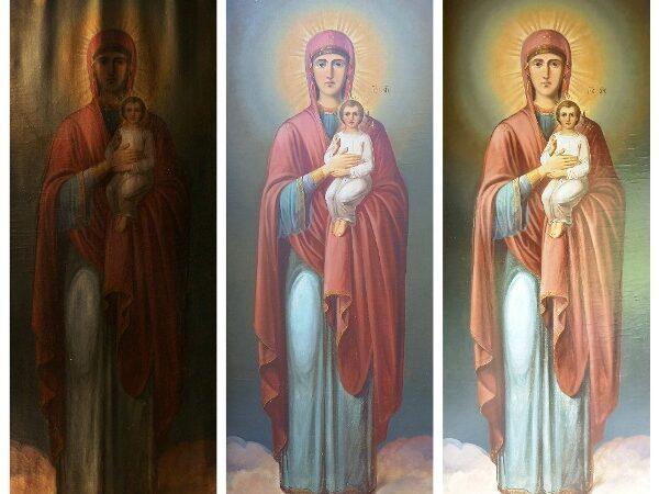 Семь студенток отреставрировали шесть кенозерских икон